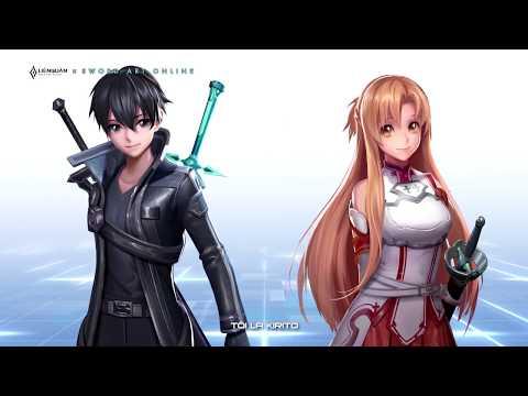 Giới thiệu Kirito Hắc kiếm sĩ và Asuna Tia chớp | Sword Art Online - Garena Liên Quân Mobile
