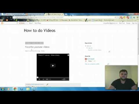 How to do videos on blogs