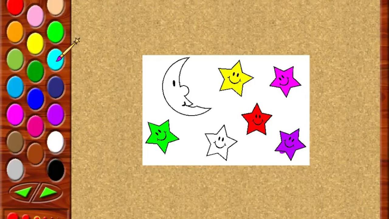 Ay Ve Yıldız Boyama Youtube