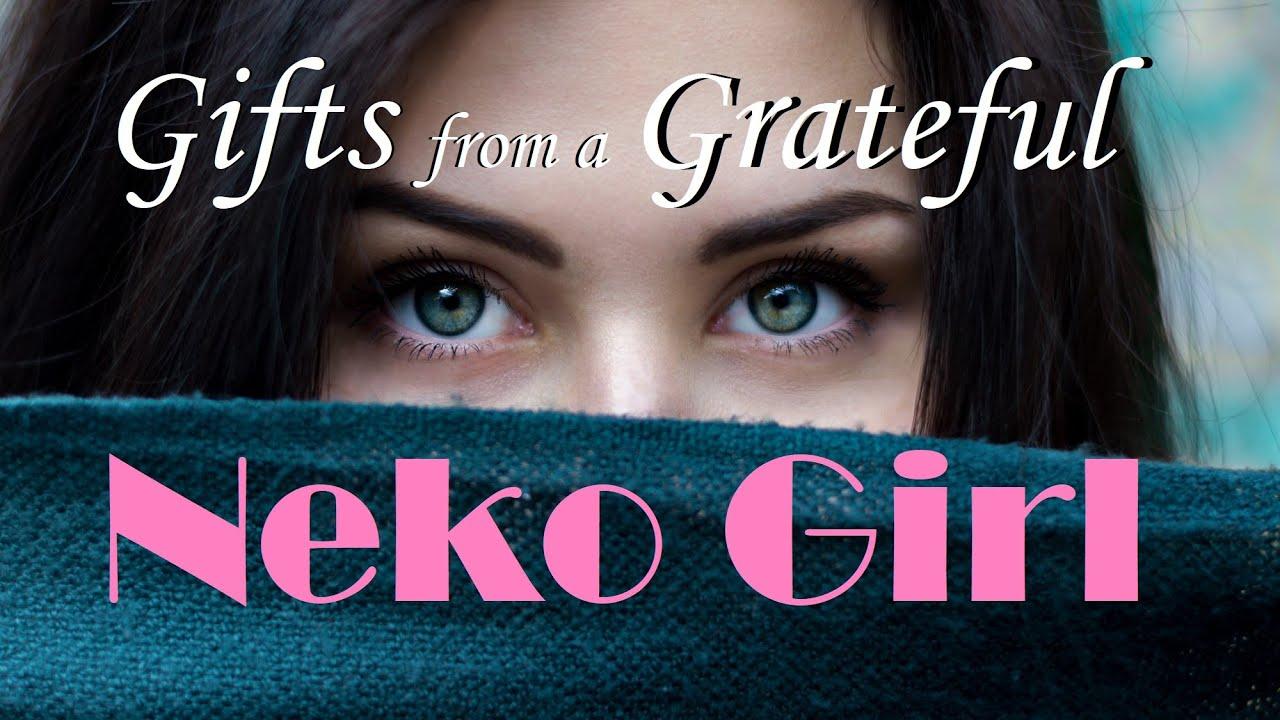 Gifts from a Grateful Neko Girl ASMR Roleplay -- (Female x Listener) (Cat Girl) (Purring)