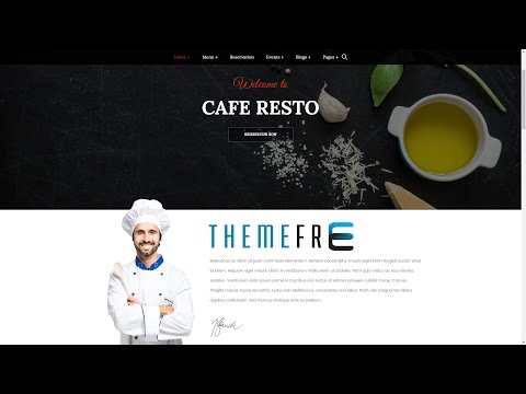 CAFE RESTO Wordpress Theme for Restaurant, Cafe, Food Service, Culinary, Creative Cuisines