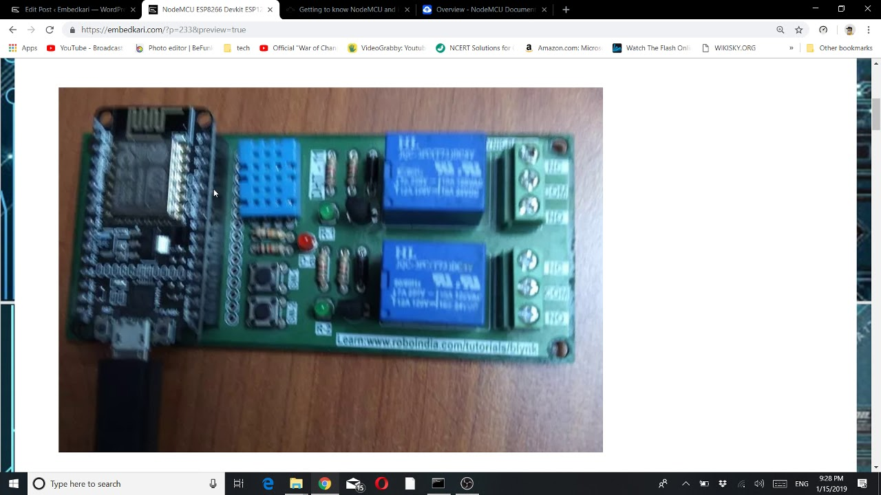 NodeMCU ESP8266 Devkit with DHT11