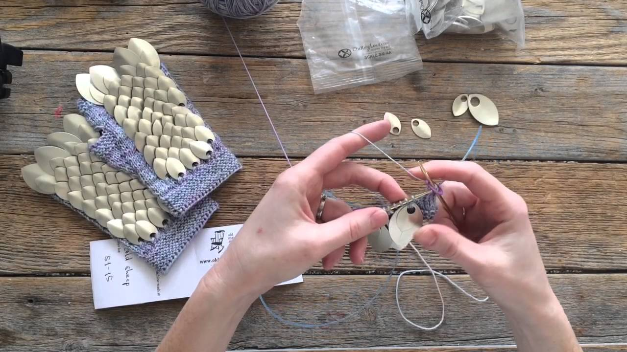 scalemail knitting tutorial galadriel battle mitts youtube