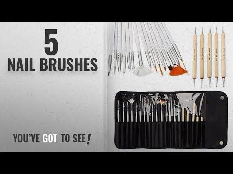 Top 10 Nail Brushes [2018]: 20pcs Nail Art Designing Painting Dotting Detailing Pen Brushes Bundle