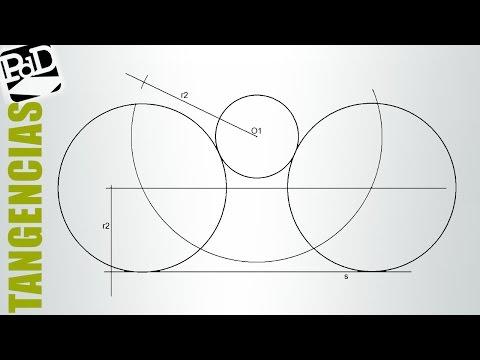 Circunferencia tangentes exteriores a otra circunferencia y a una recta, conocido el radio.