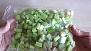РЕВЕНЬ ЗАМОРОЗКА. ПОЛЬЗА И ВРЕД РЕВЕНЯ / Freezing Rhubarb