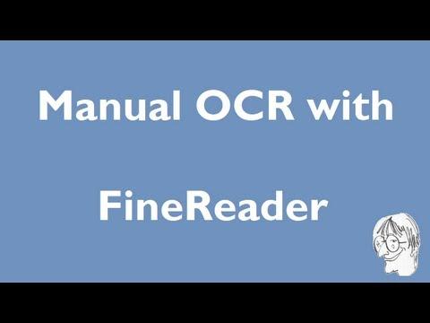 Manual OCR With FineReader
