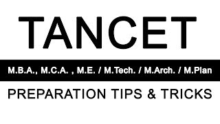 Tips to Crack the TANCET exam