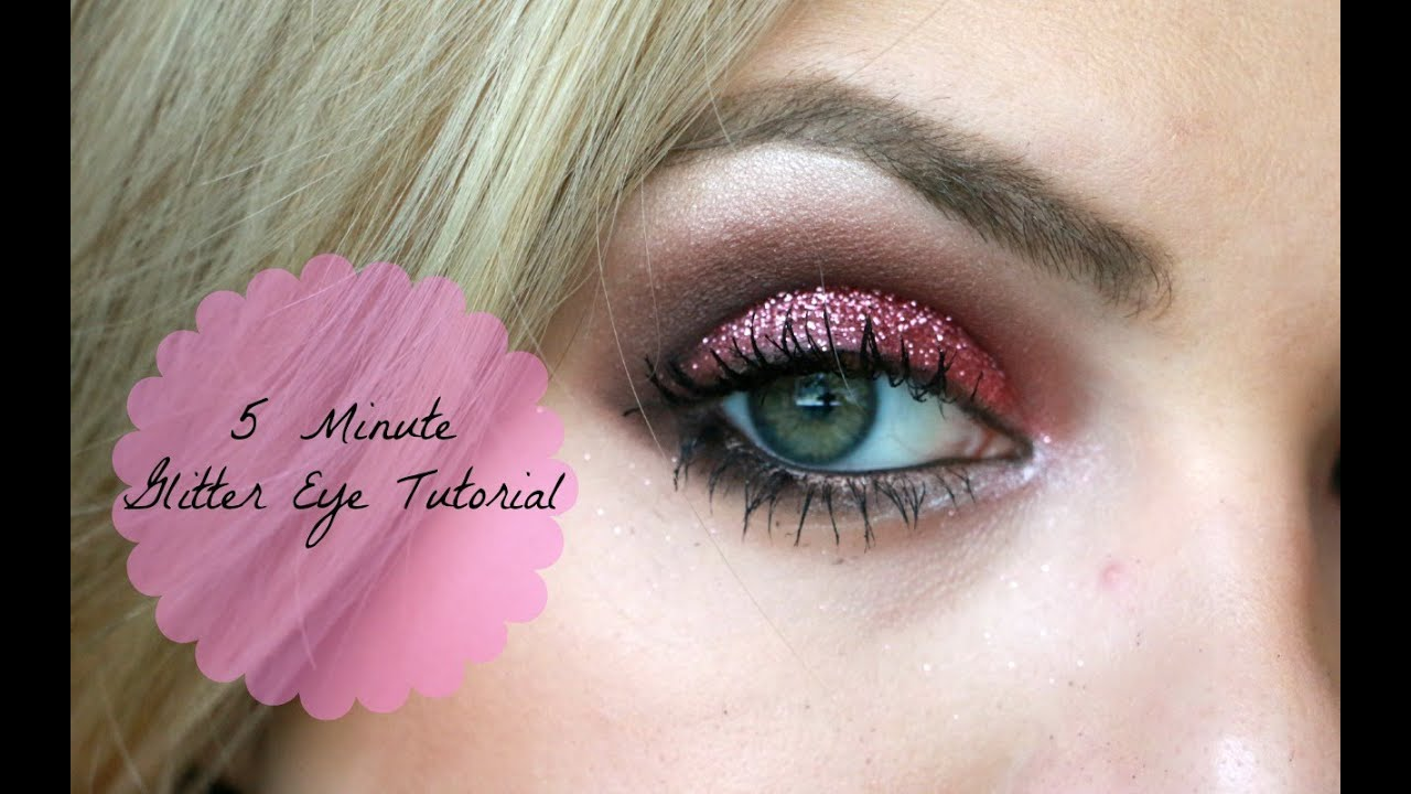 5 Minute Glitter Eyeshadow Tutorial