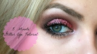 5 Minute Glitter Eyeshadow Tutorial Thumbnail