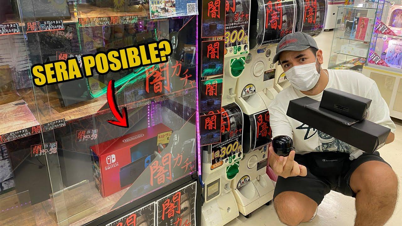 MAQUINA de PREMIOS SORPRESA en JAPON ?   GACHAPONES DE TERROR   SE PUEDE GANAR UNA SWITCH?