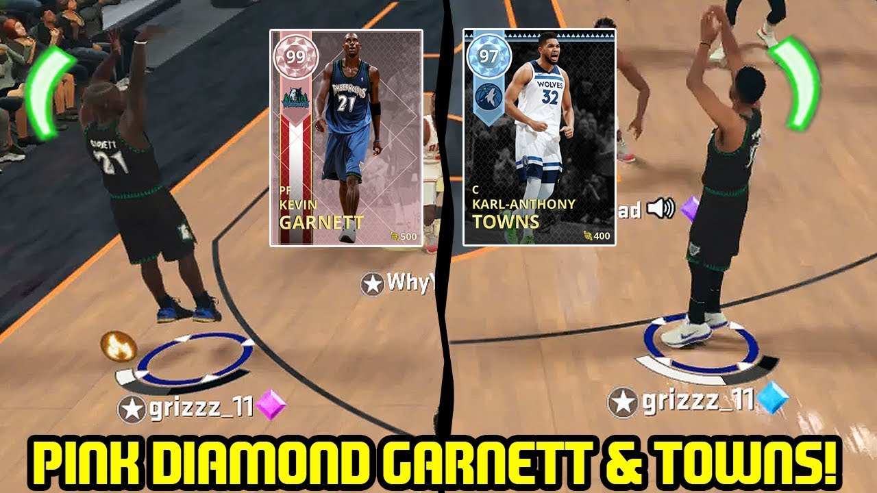 PINK DIAMOND KEVIN GARNETT   KARL TOWNS! WOLVES ARE BACK! NBA 2K18 MYTEAM  GAMEPLAY 8e3fa28f6