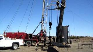 Oil well completion near Hays, Kansas