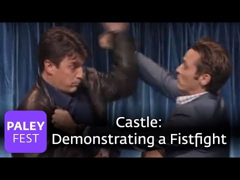 Castle - Fillion, Dever, And Huertas Demonstrate A Fistfight