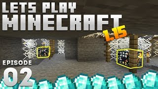 iJevin Plays Minecraft - Ep. 2:  DOUBLE SPAWNER & DIAMONDS! (1.15 Minecraft Let's Play)