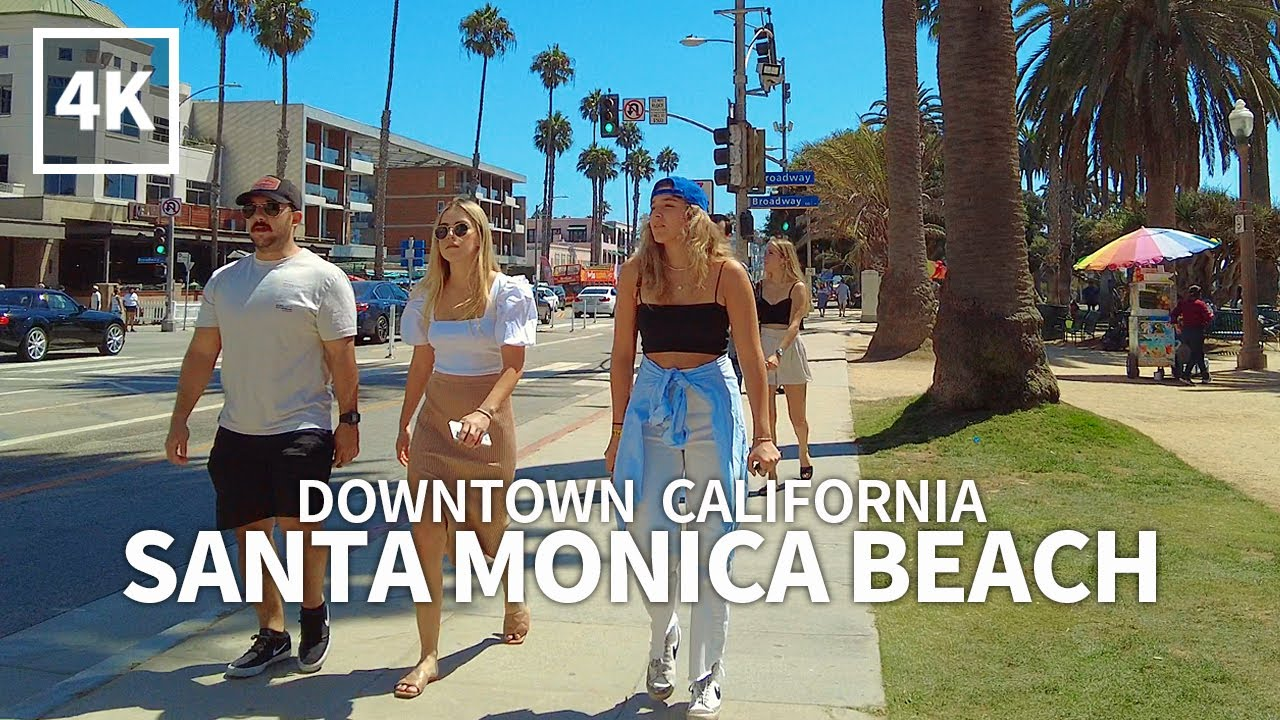 [4K] SANTA MONICA - Walking Downtown Santa Monica, Los Angeles, California, USA, Travel, 4K UHD