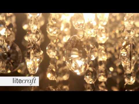 Montego 9 Light Gold Ceiling Light | Litecraft - Lighting Your Home
