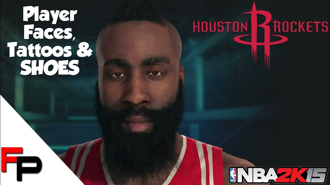 Nba 2k15 houston rockets player faces tattoos shoes for James harden tattoo
