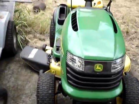 Kubota Lawn Tractor >> john deere L130 kohler command 23hp mean engine revs - YouTube