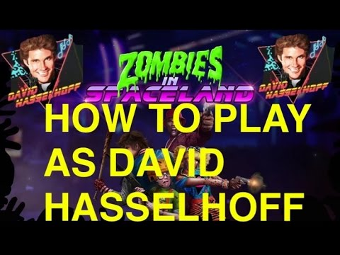 Zombies In Spaceland How to play as David Hasselhoff (Easter Egg Cheat Code)