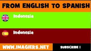 ESPAÑOL = INGLÉS = Indonesia