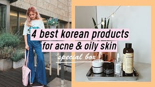 "QQ Box - ""4 Best Korean Products for Acne & Oily Skin"" Amazing Price!! 