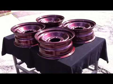 Powder coated GMC steel wheels