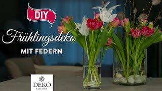 DIY: schnelle Frühlingsdeko mit Federn [How to] Deko Kitchen