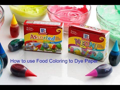 How to use food coloring to Dye your paper Part #1
