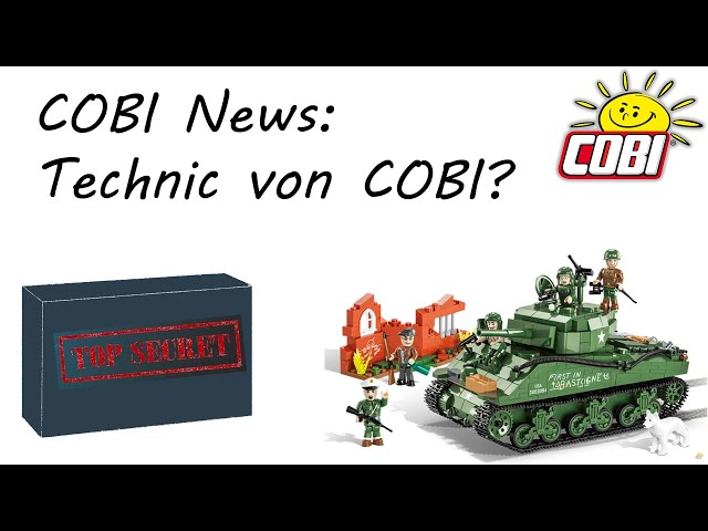 COBI News: Technic Sets von COBI? & Panzer Sherman M4A3E2 Jumbo (2549 & 2550) #11