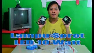 Video Unboxing Time  - Lampu Sorot LED 10 Watt download MP3, 3GP, MP4, WEBM, AVI, FLV November 2018