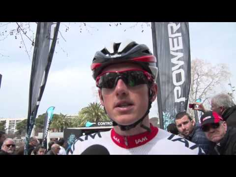 Mathias Frank at the start of stage 2 in Volta a Catalunya