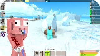 Aenh trouve une île de glace - Roblox Booga Booga