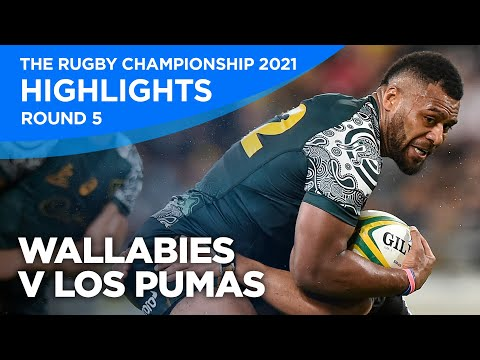 Wallabies v Los Pumas Highlights   Round Five   The Rugby Championship   2021