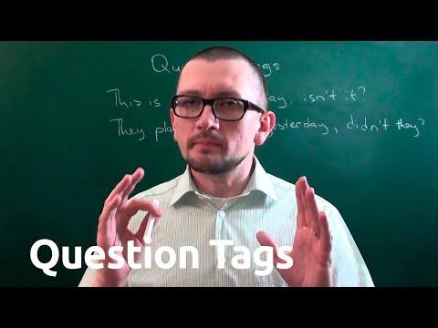 Хвостовые вопросы (question Tags) в английском языке