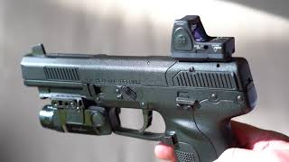 Trijicon RMR on FN Five Seven 5.7x28mm and Viridian X5L light/laser in 4K