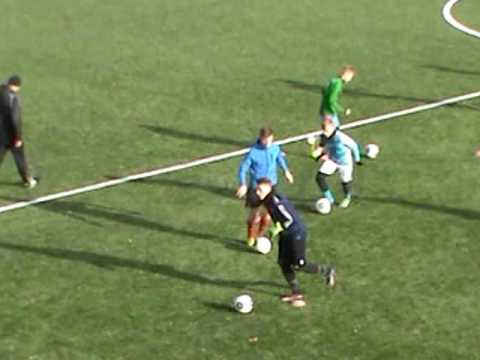 Selection of players in the Czech Republic. The third day. Training [Football dribblings]