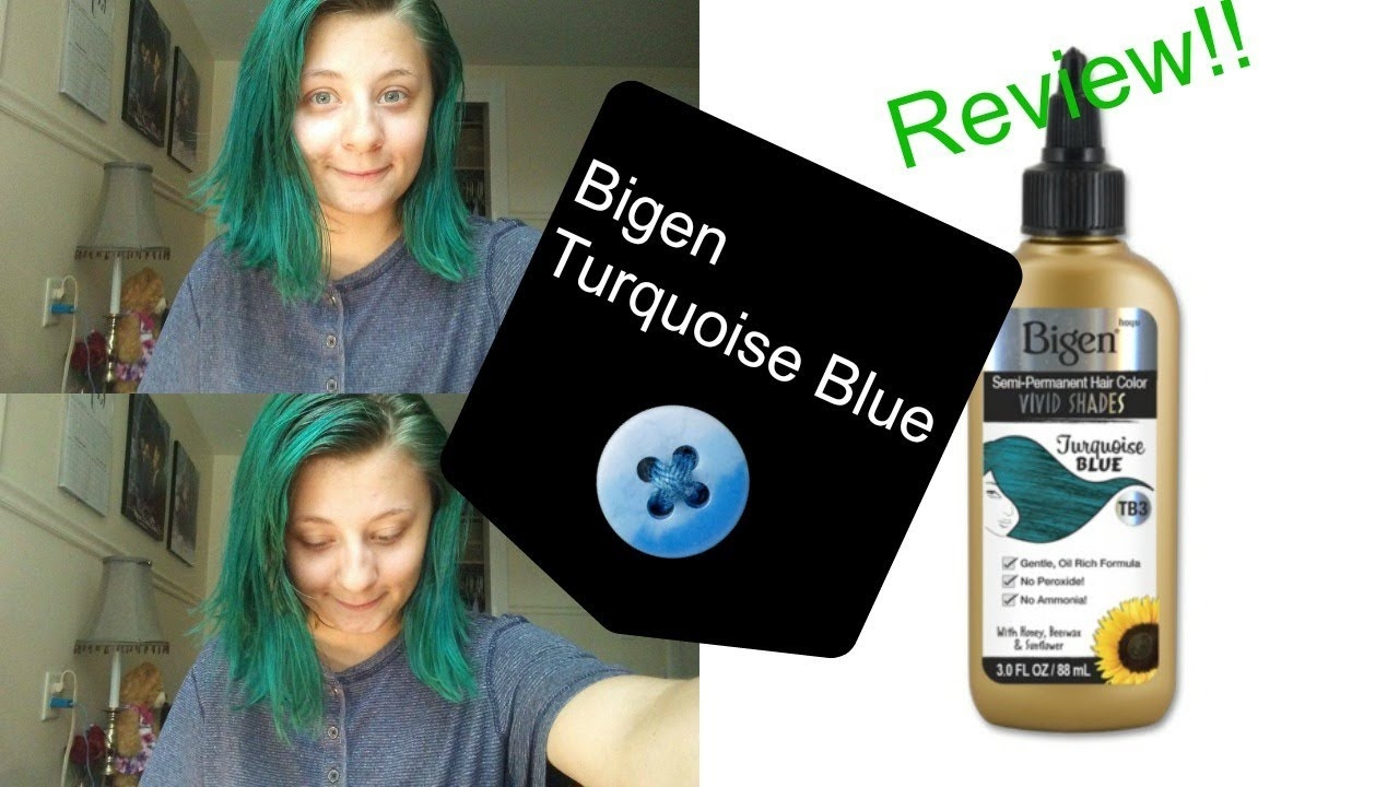 Turquoise Blue Bigen Vivid Shades Hair Dye Review Youtube