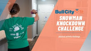 ⛄ SNOWMAN KNOCKDOWN CHALLENGE ⛄ | a 1-minute physical activity challenge by Bull City Fit