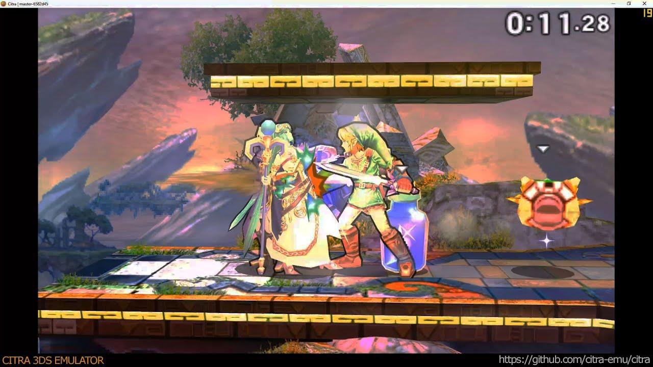 Citra 3DS Emulator - Super Smash Bros  ingame 1080p