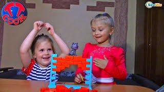 ВЛОГ Играем в настольные Игры для Детей с маленькой подружкой
