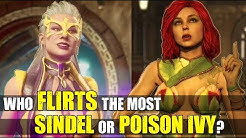 Who Flirts The Most - Sindel or Poison Ivy ( Relationship Intro Dialogues ) MK 11 - Injustice 2
