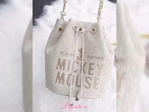 Disney Mickey Embroidery Drawstring Bag