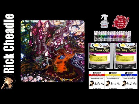 Paint Pouring with Ricks Mix and Counter Culture DIY Resin