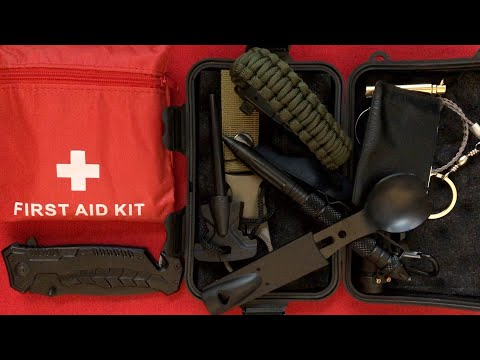 Unboxing / Reviewing a Cheap Survival Kit From Amazon (Puhibuox)