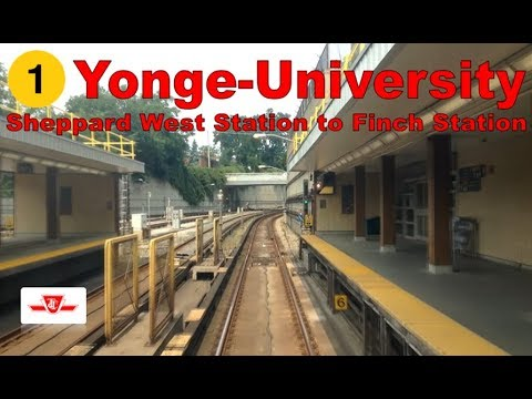 1 Yonge-University - TTC 1995-2001 Bombardier T1 (Sheppard West Stn to Finch Stn) [Front View]