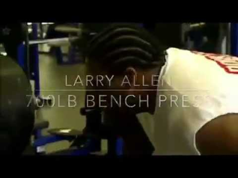 When Larry Allen threw up 700 lbs during a Cowboys workout