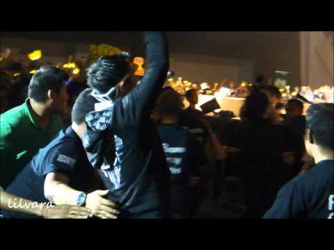TOP got hug attack by an ahjumma fan at Jakarta