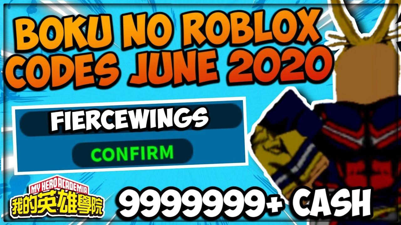 Boku No Hero Roblox Codes June 2020