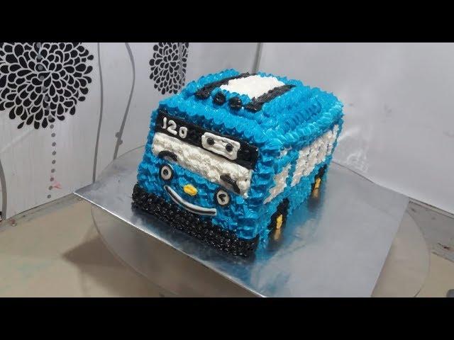 Hai Tayo Cara Membuat Kue Ulang Tahun Tayo Tart Cake Sederhana Youtube